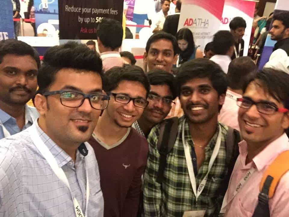 With other professional bloggers at an event in Delhi, India