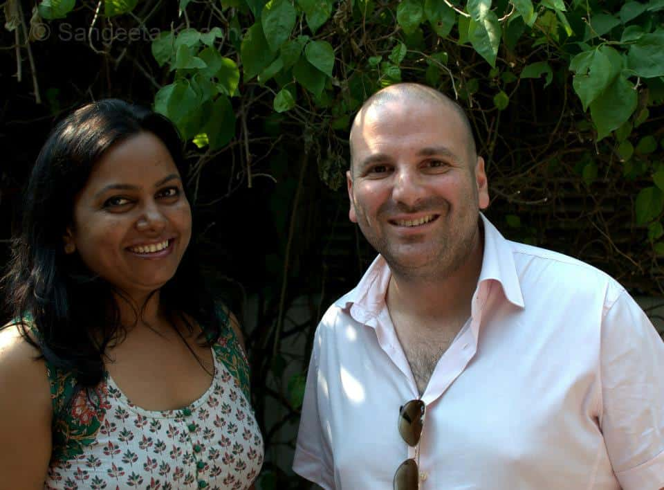 Sangeeta Khanna with George Calombaris, MasterChef Australia in India