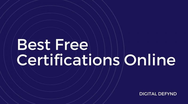 20 Best Free Online Certifications & Courses [2020]