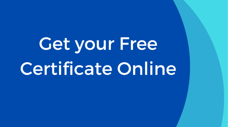 Get Your Free Certificate Online