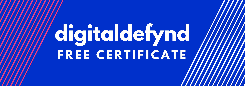 Digital Defynd Free Certificate