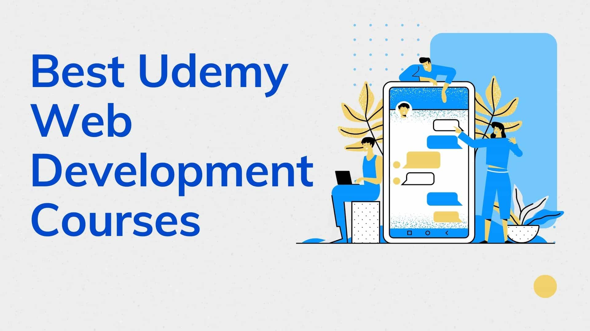 39 Best Free Udemy Web Development Courses 2020