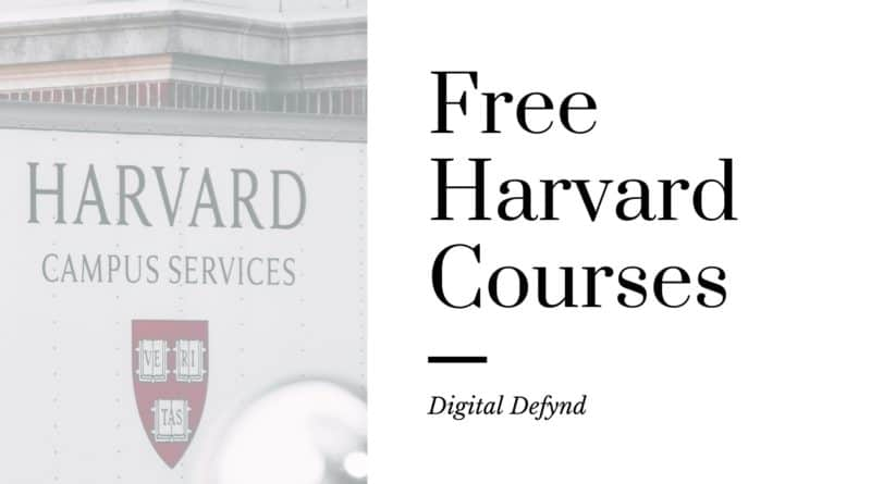 Free Harvard Courses Certificates Training Classes Online